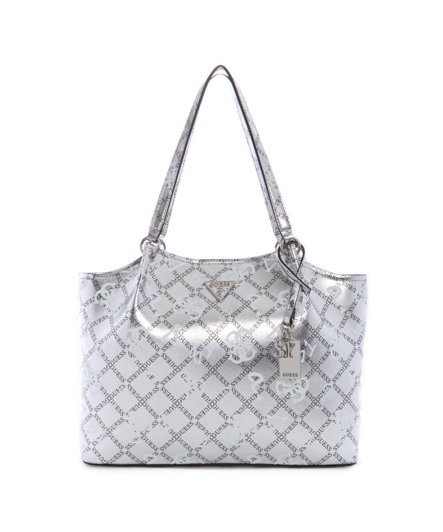 Image for Guess Women's Tangey Girlfriend Carryall Satchel - Silver Multi