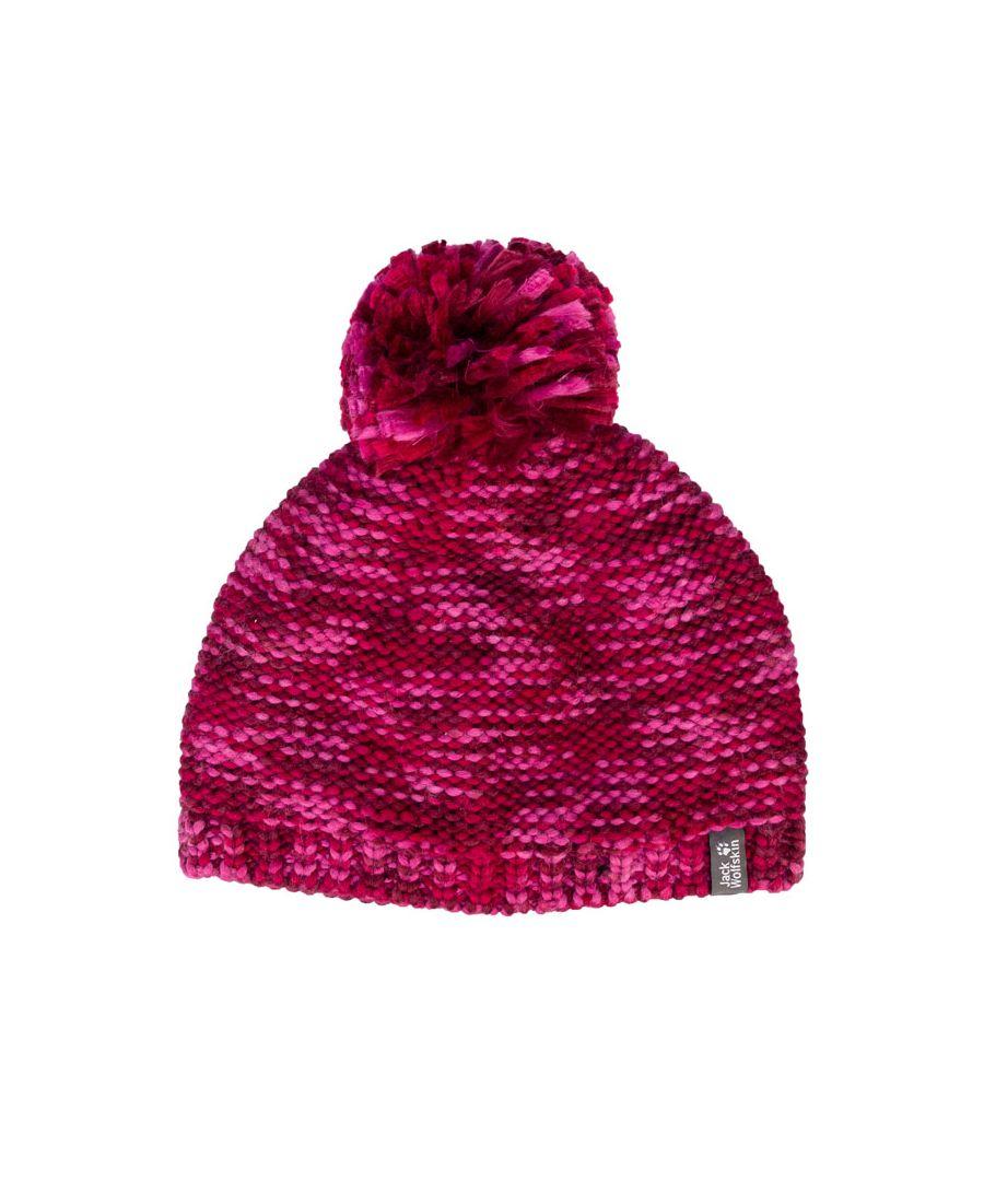 Image for Accessories Jack Wolfskin Kids Kaleidoscope Knit Hat in Cerise