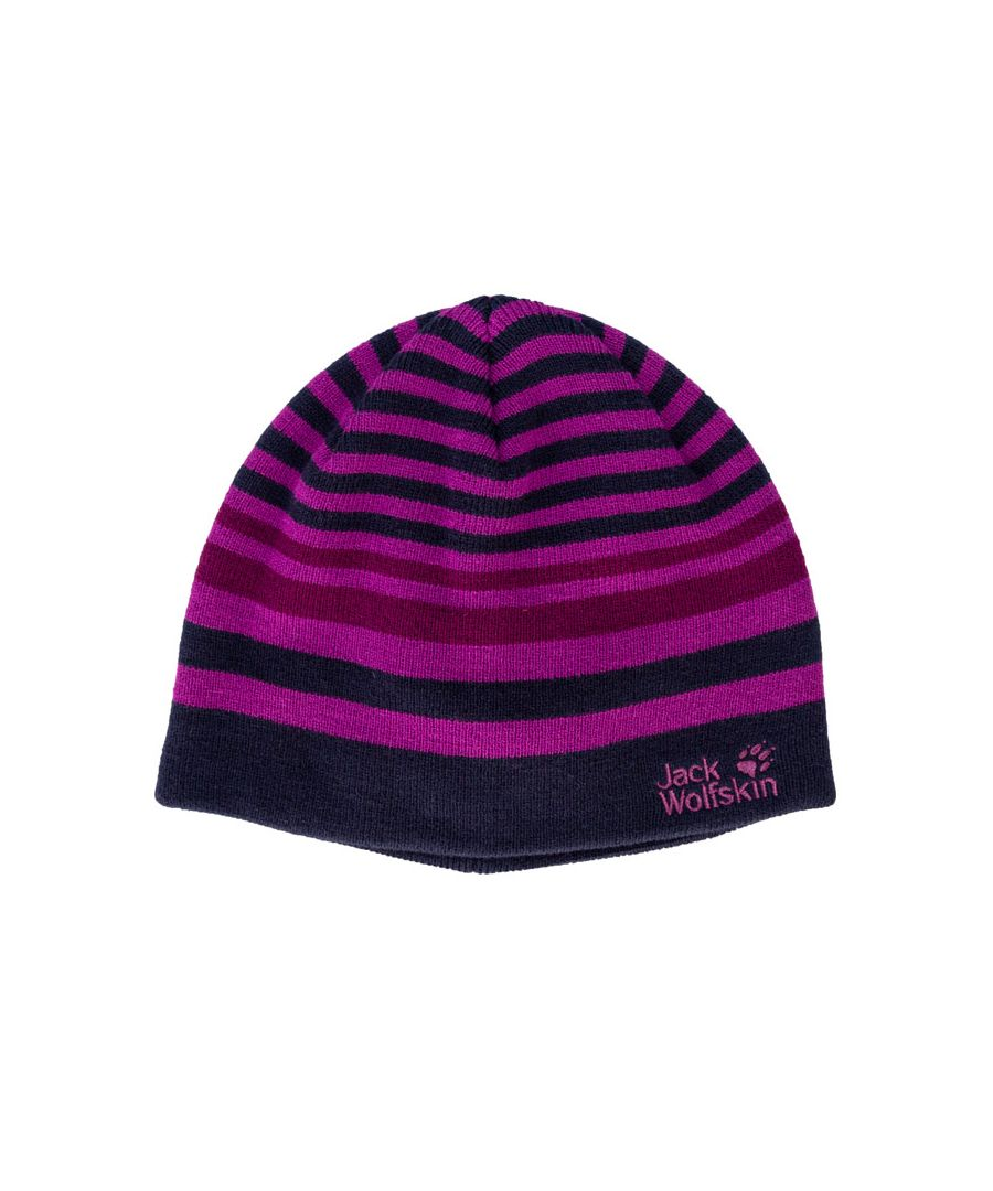 Image for Accessories Jack Wolfskin Kids Cross Knit Hat in Navy