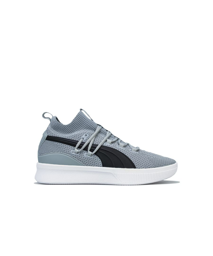 Image for Men's Puma Clyde Court Basketball trainers in Grey black