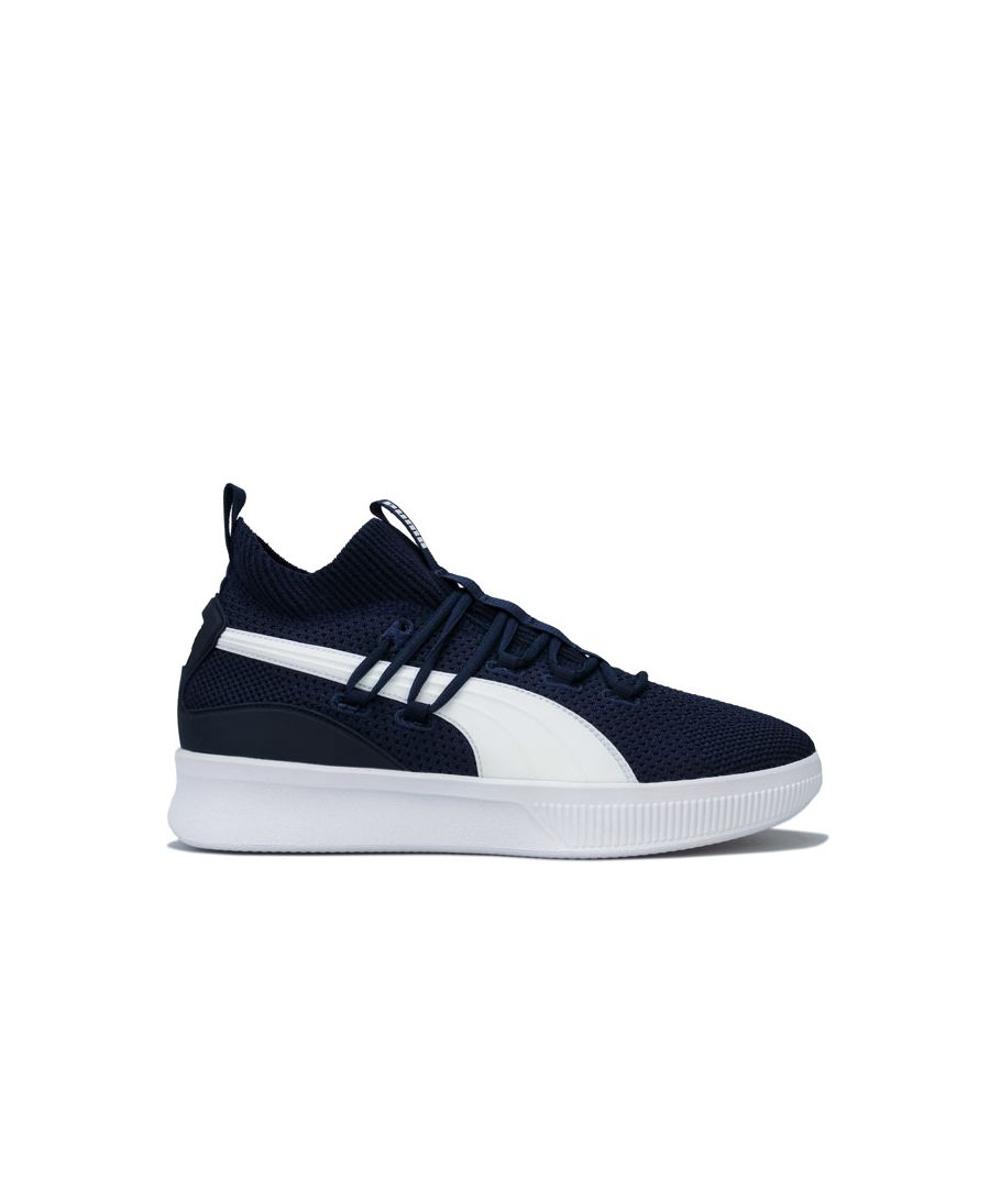 Image for Men's Puma Clyde Court Basketball Trainers in Navy