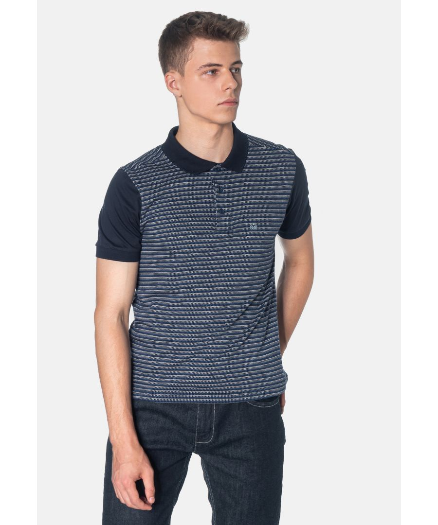 Image for Clifford Jacquard Men's Polo Shirt in Navy