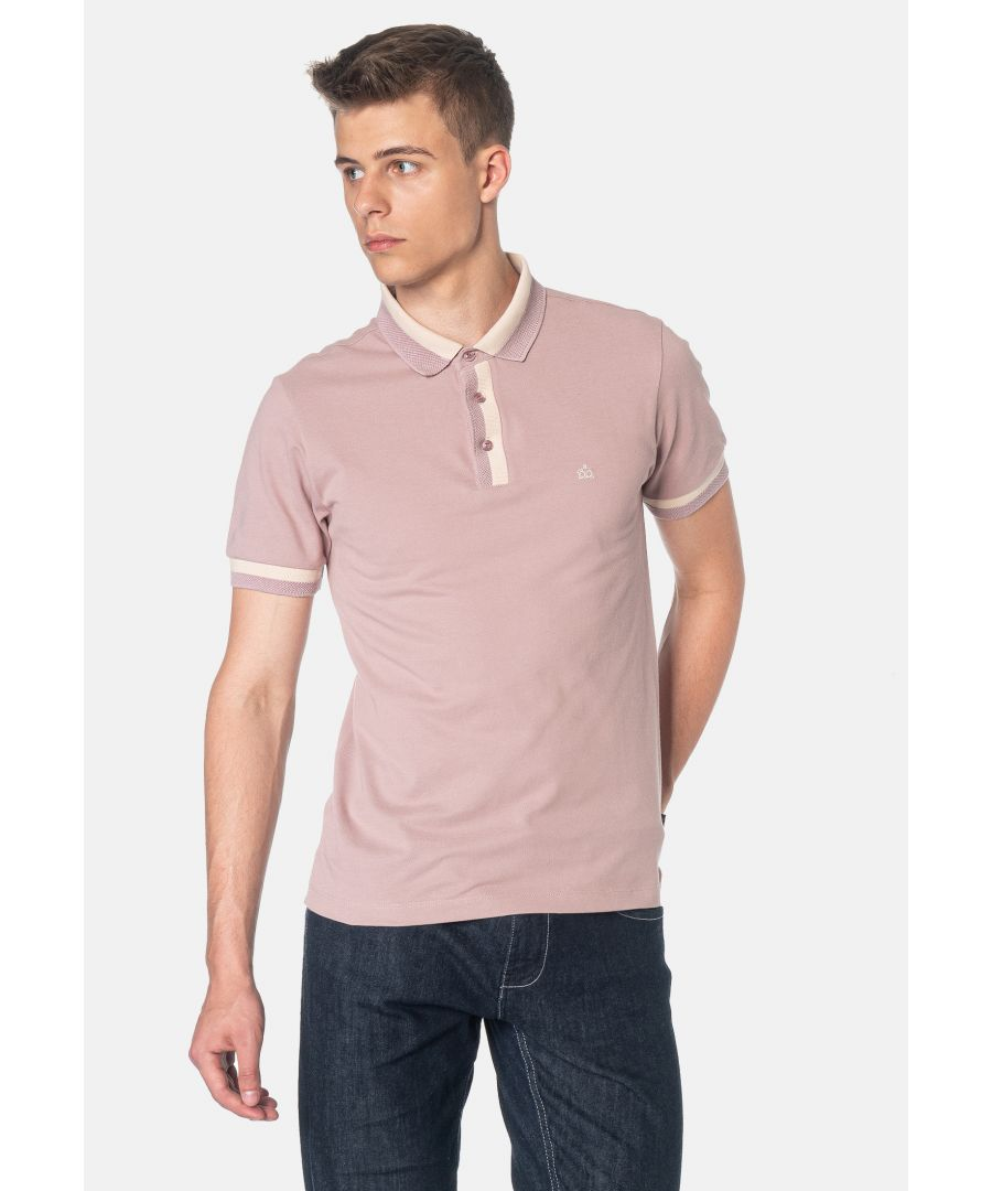 Image for Nugent Bold Tipping Men's Polo Shirt in Faded Plum