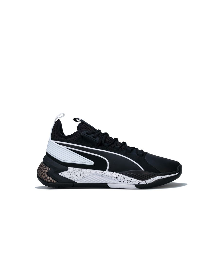 Image for Men's Puma Basketball Uproar Hybrid Court Core Trainers in Black