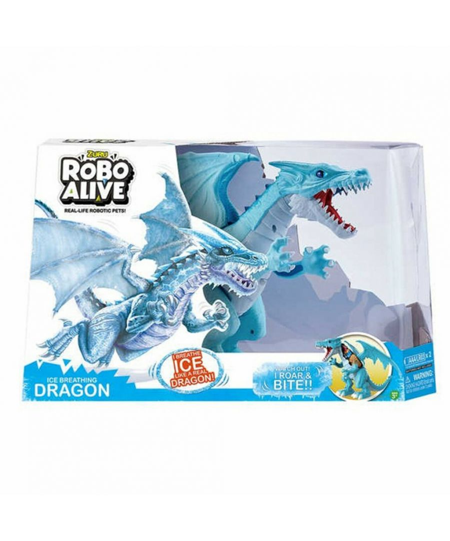Image for Tobar Robo Alive Ice Breathing Dragon Blue