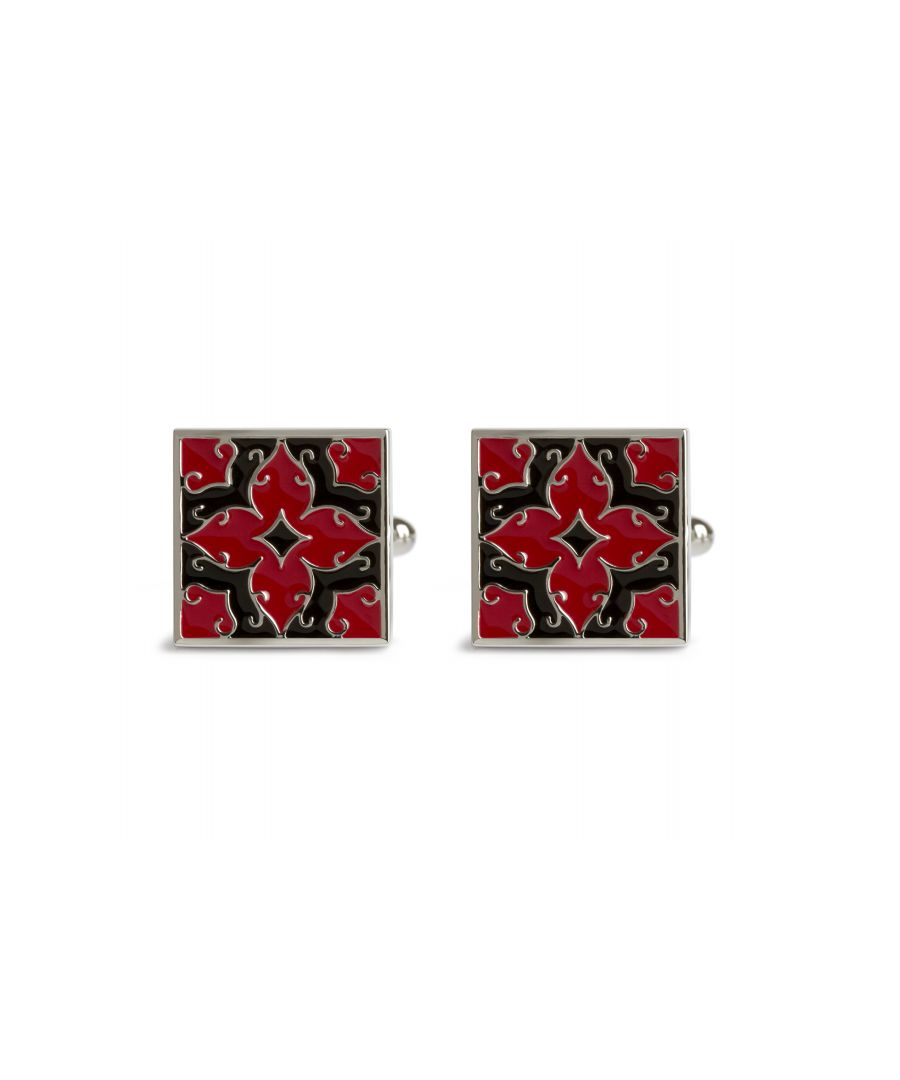 Image for Alhambra Black/Red Cufflinks