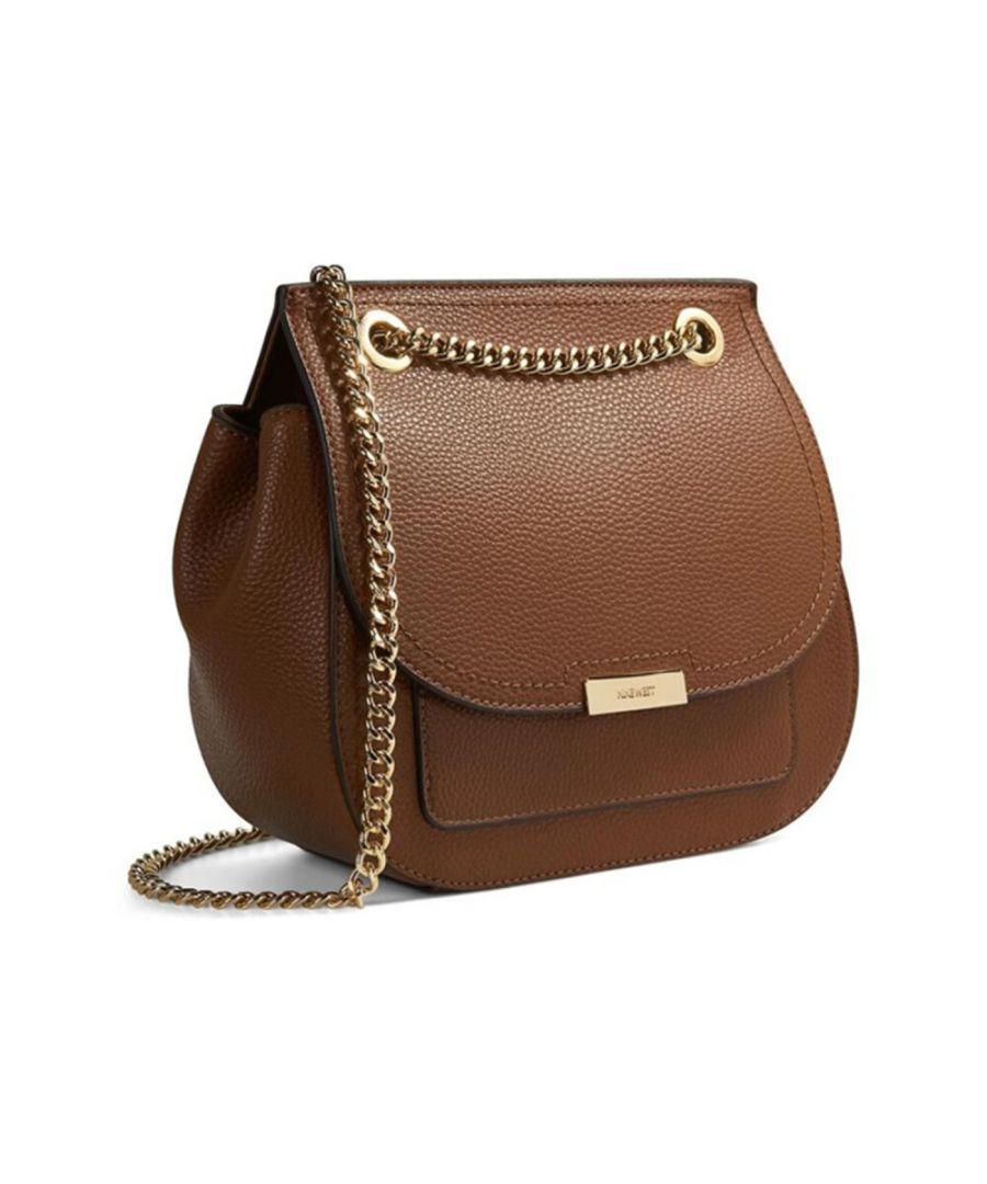 Image for Nine West Women's Kennedy Convertible Flap Cross Body Bag - Cognac