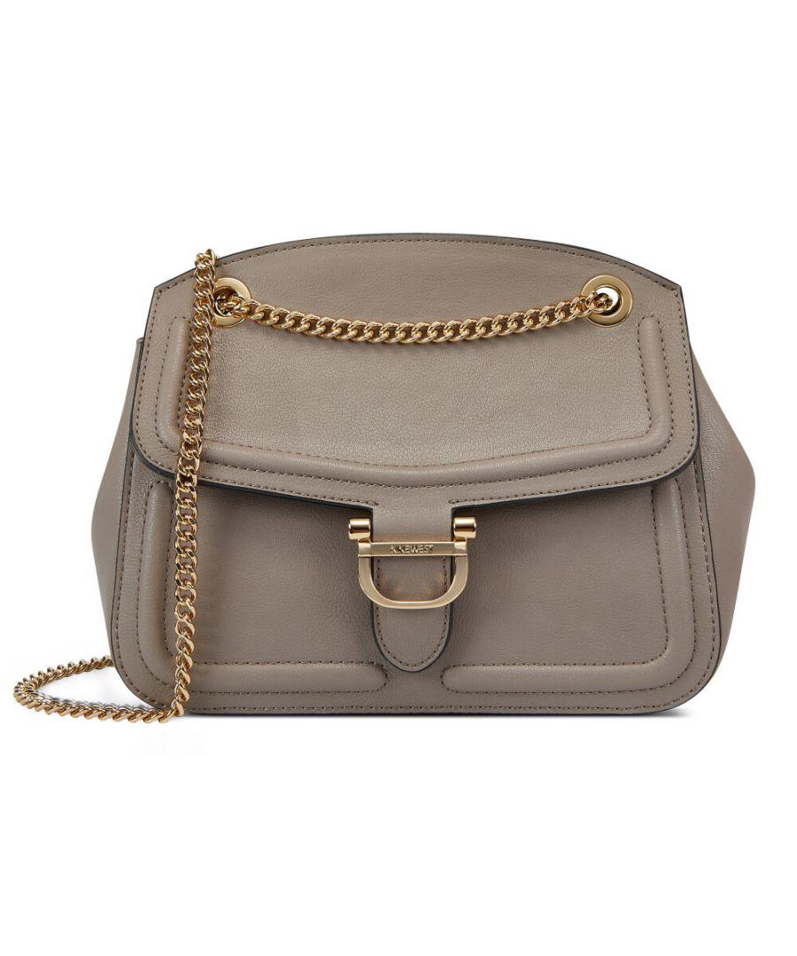 Image for Nine West Women's Harper Convertible Flap Crossbody Cross Body Bag - Greystone