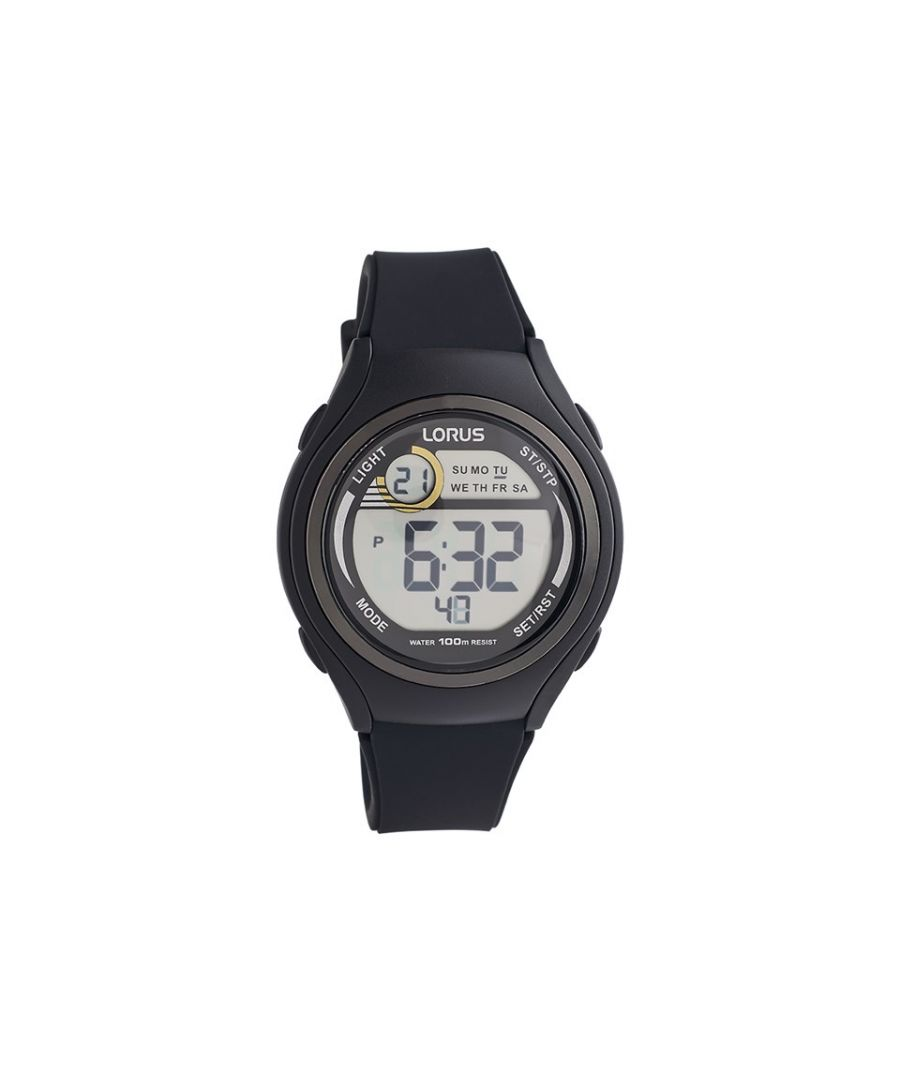 Image for Lorus Unisex R2373LX9 Black Resin Multi Function LCD Watch