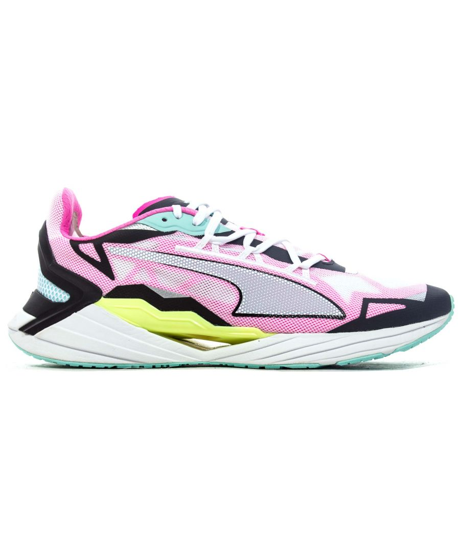 Image for Puma Ultraride Womens Running Trainer White/Pink/Black/Blue - UK 5