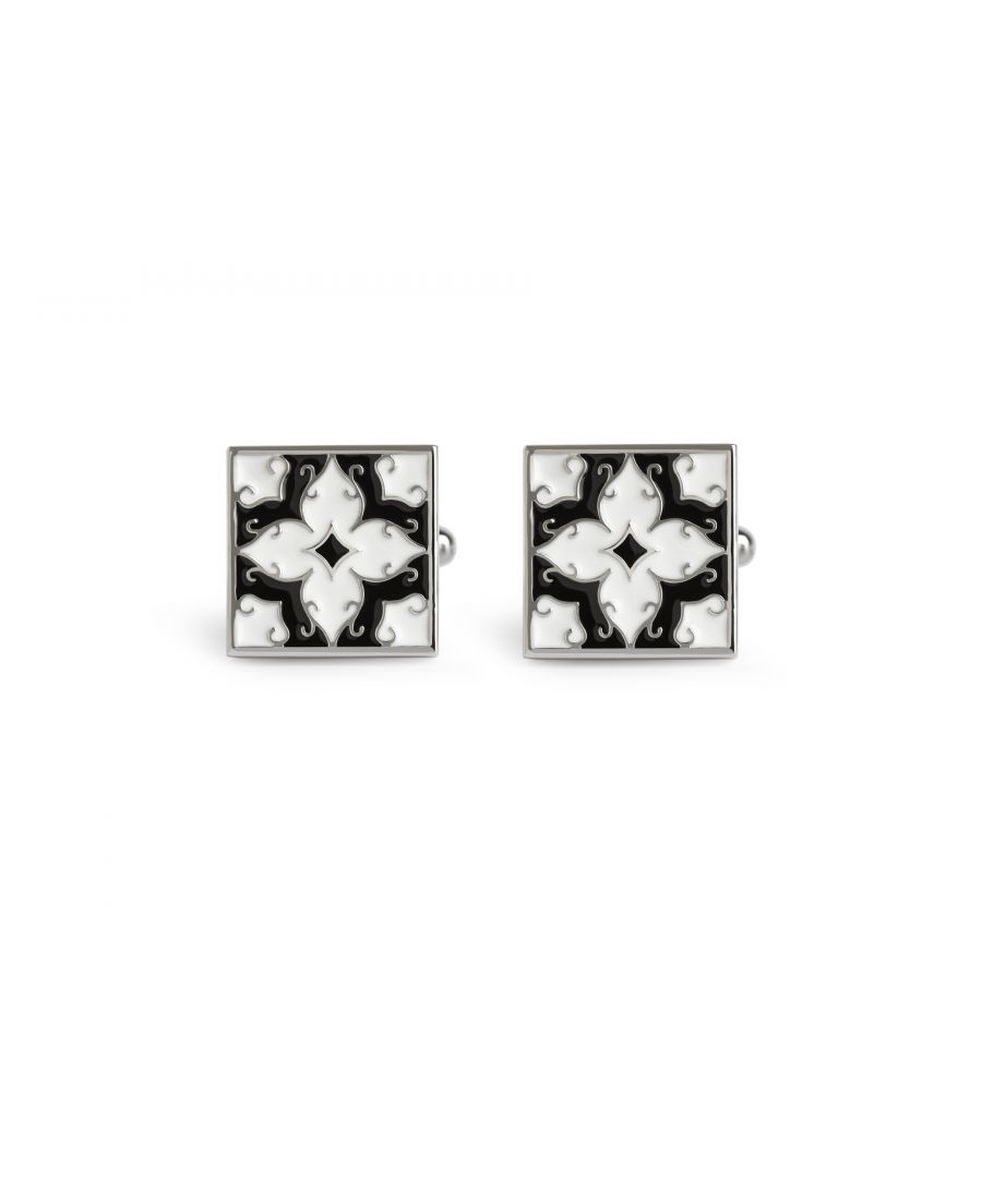Image for Alhambra Black and White Cufflinks