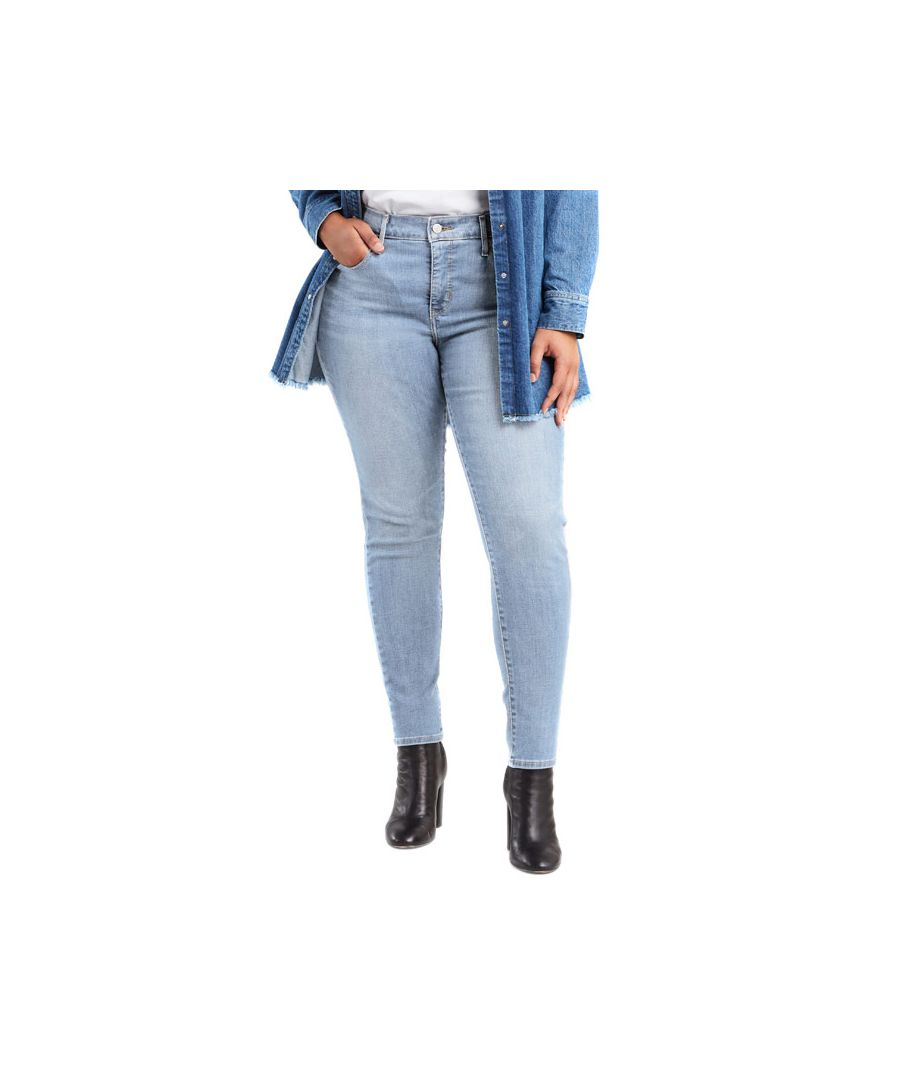 Image for Women's Levis 310 Plus Shaping Super Skinny Jeans in Light Blue