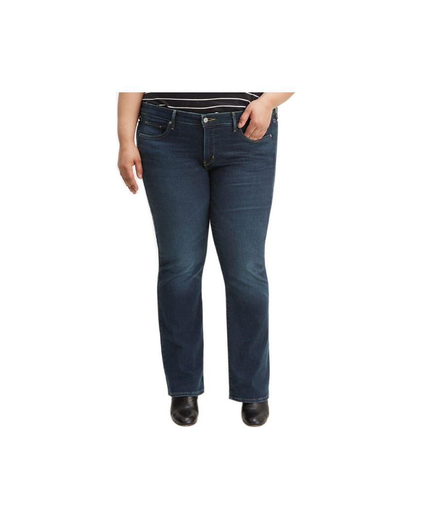 Image for Women's Levis 315 Plus Shaping Bootcut Jeans Dark Blue 20Sin Dark Blue