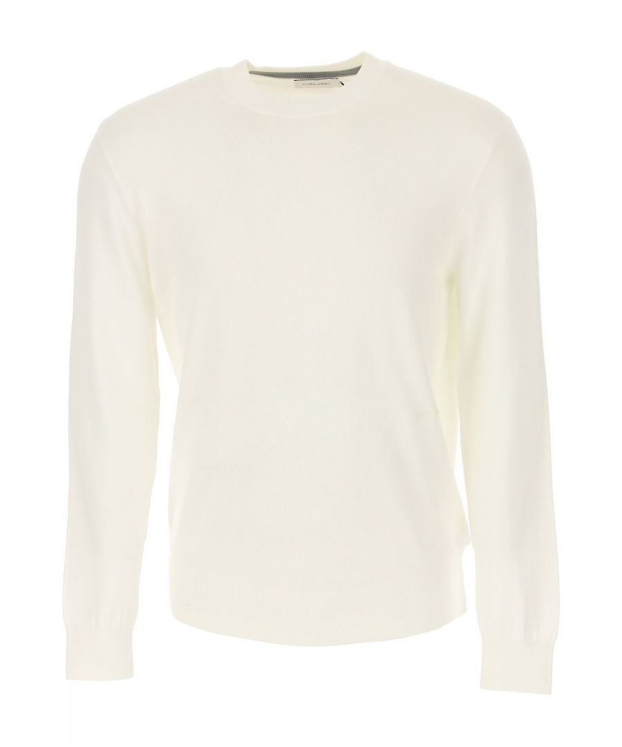 Image for CALVIN KLEIN MEN'S K10K103690105 WHITE COTTON SWEATER