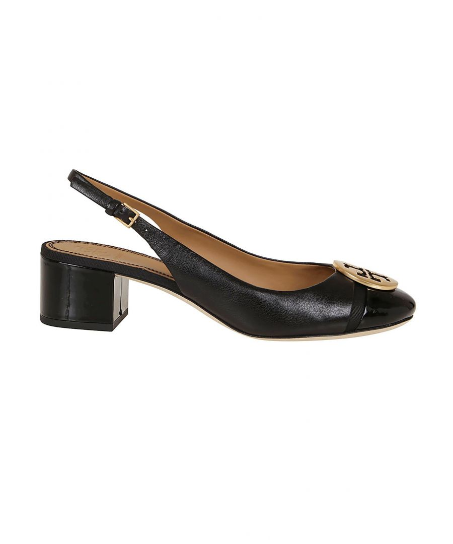 Image for TORY BURCH WOMEN'S 61752004 BLACK LEATHER HEELS