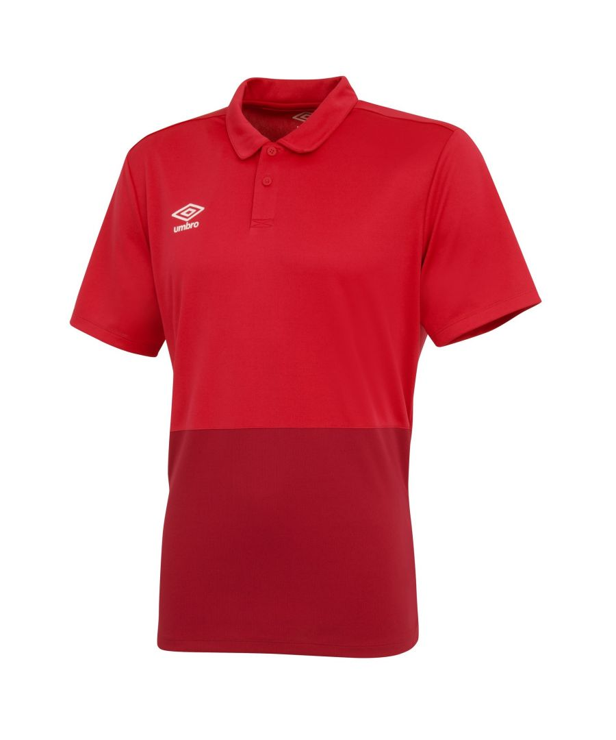 Image for Umbro Boys Polyester Polo Shirt (Vermillion/Jester Red)