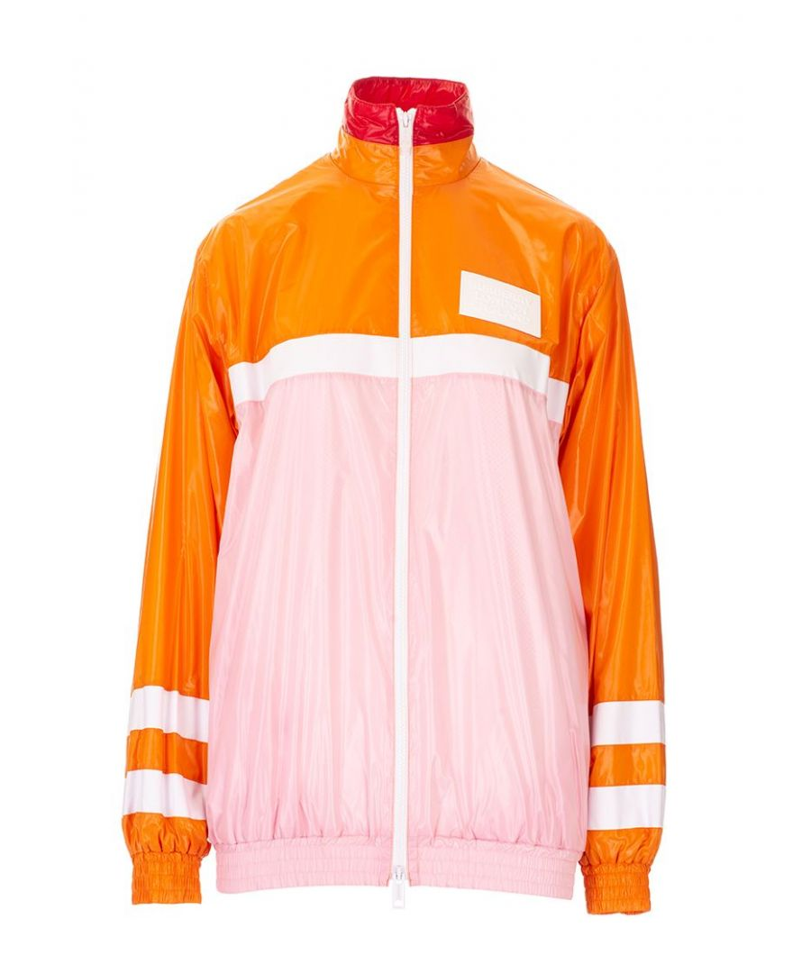 Image for BURBERRY WOMEN'S 8021941 ORANGE POLYAMIDE JACKET