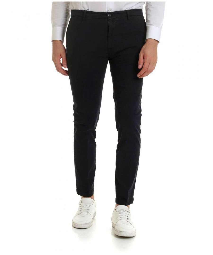 Image for BRIGLIA 1949 MEN'S BG04490811 BLACK COTTON PANTS
