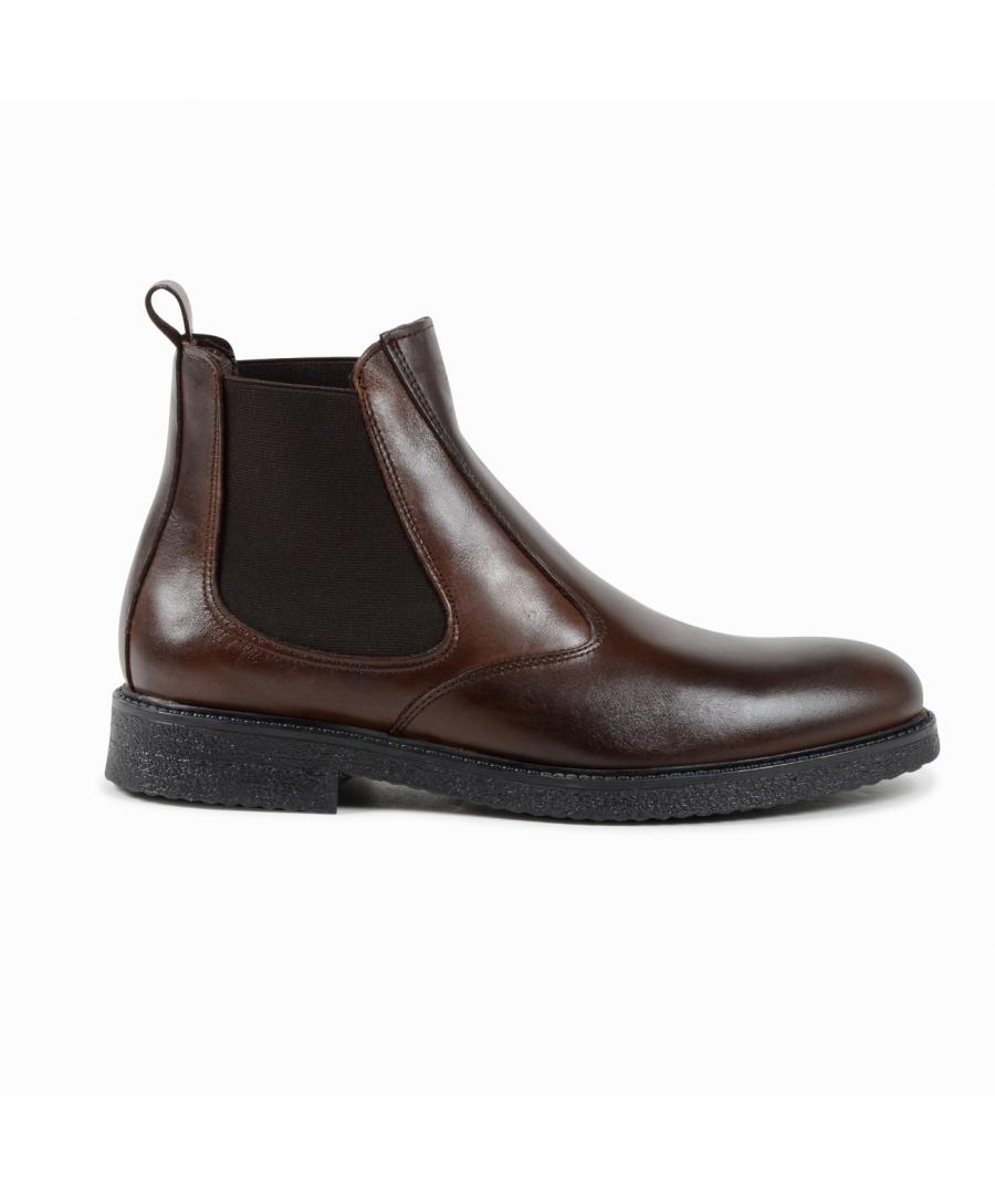Image for 19V69 Italia Mens Ankle Boot Brown 043 G VITELLO T MORO