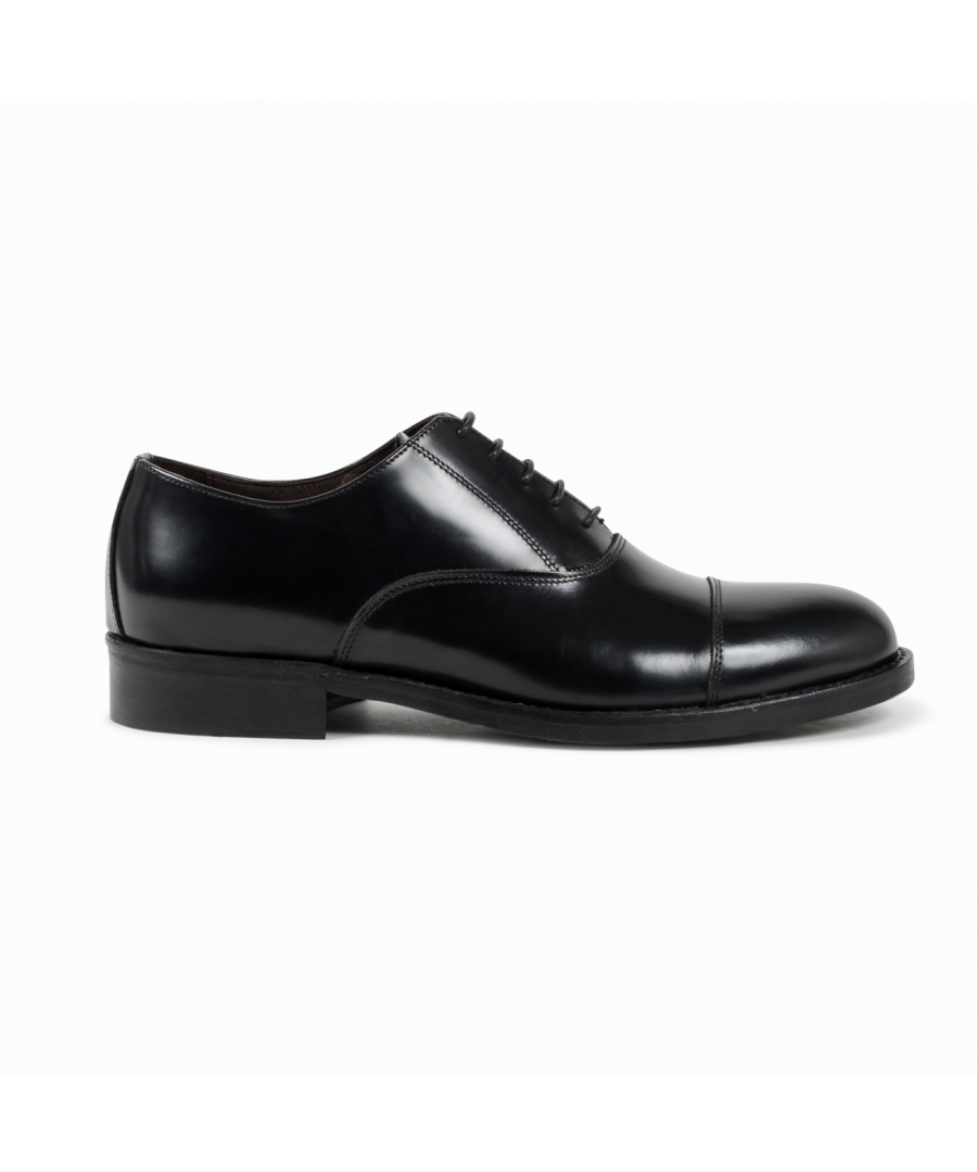 Image for 19V69 Italia Mens Classic Shoe Black 913L MP ABRASIVATO NERO