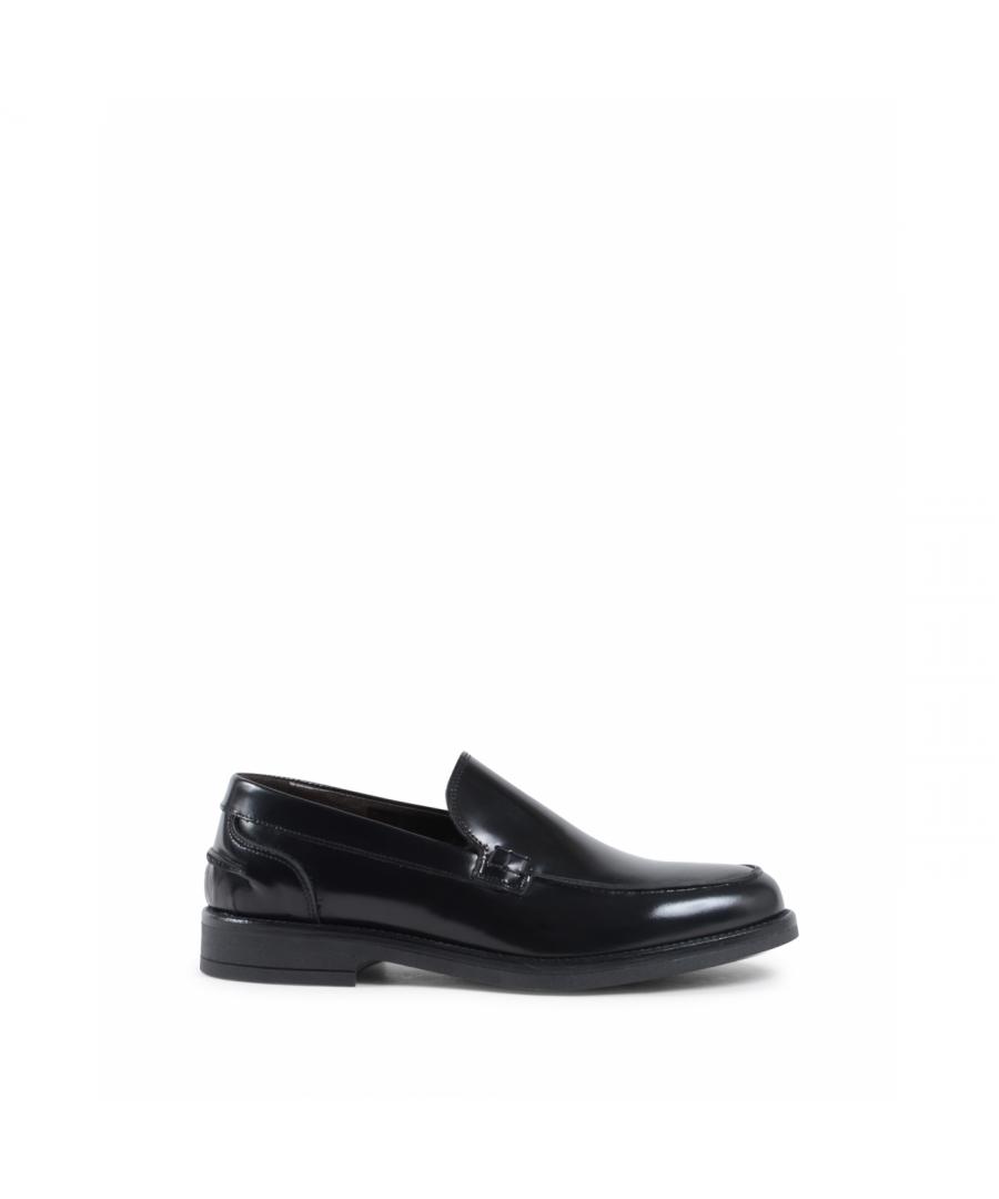 Image for 19V69 Italia Mens Loafer Black 002 C ABRASIVATO NERO