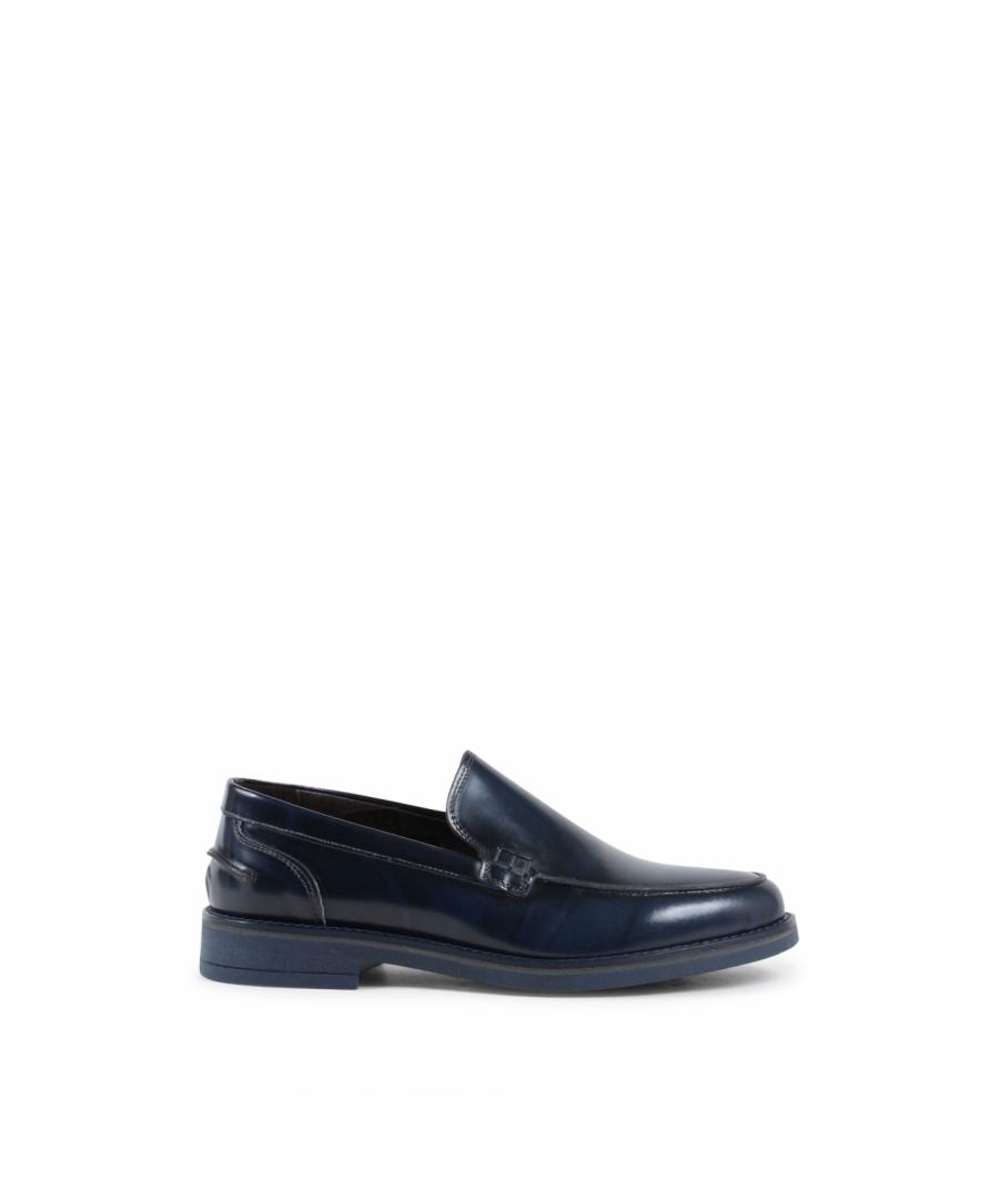 Image for 19V69 Italia Mens Loafer Blue 002 C ABRASIVATO BLUE