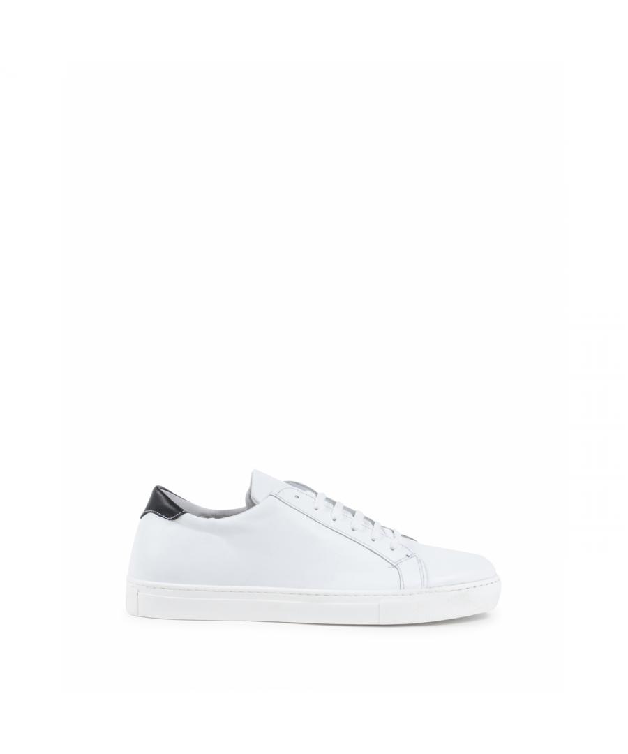 Image for 19V69 Italia Mens Sneaker White Black 035 VITELLO BIANCO NERO
