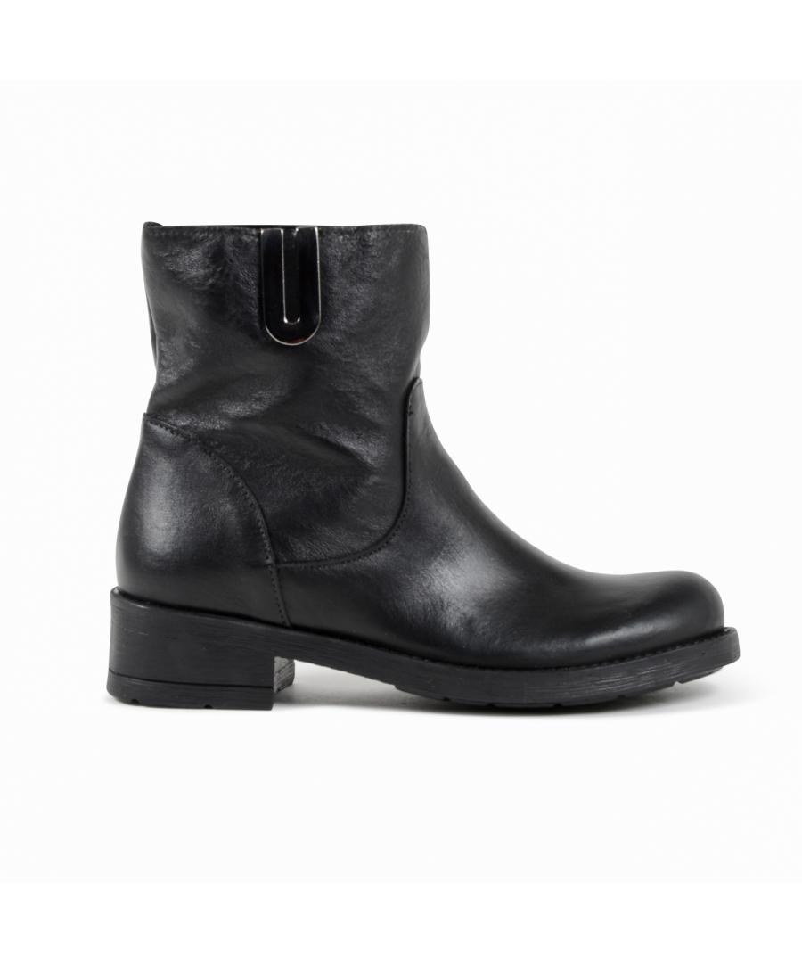 Image for 19V69 Italia Womens Ankle Boot Black 016 VITELLO NERO