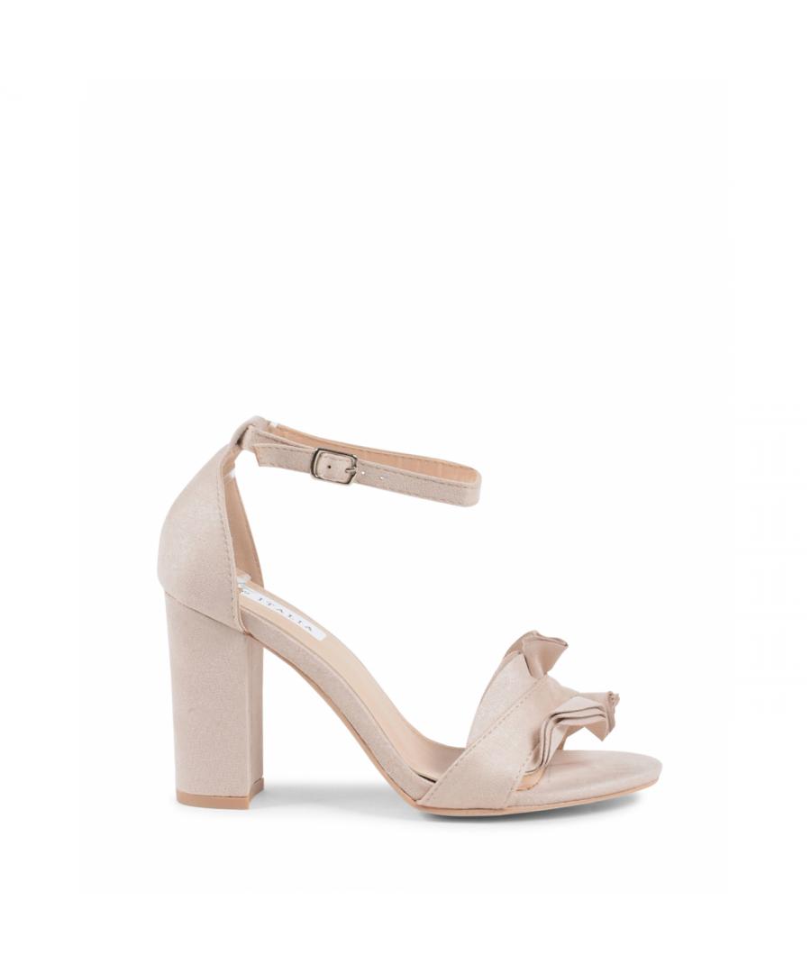 Image for 19V69 Italia Women's Ankle Strap Sandal Beige V162 BEIGE