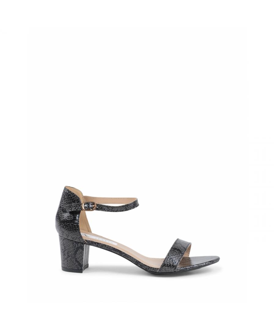 Image for 19V69 Italia Women's Ankle Strap Sandal Black V173 BLACK