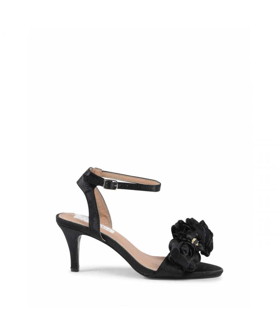 Image for 19V69 Italia Women's Ankle Strap Sandal Black V609 BLACK