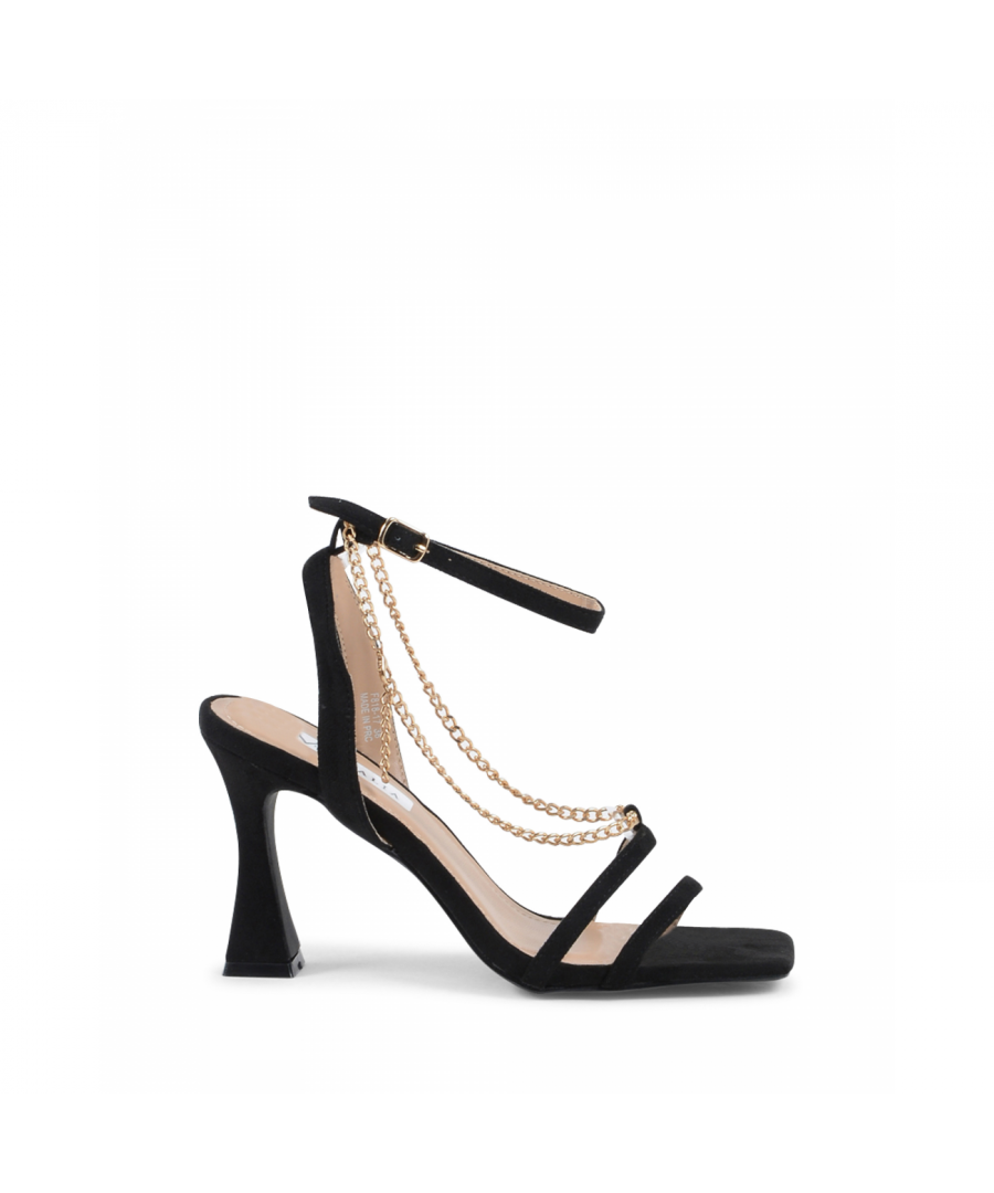 Image for 19V69 Italia Women's Ankle Strap Sandal Black V81817 BLACK