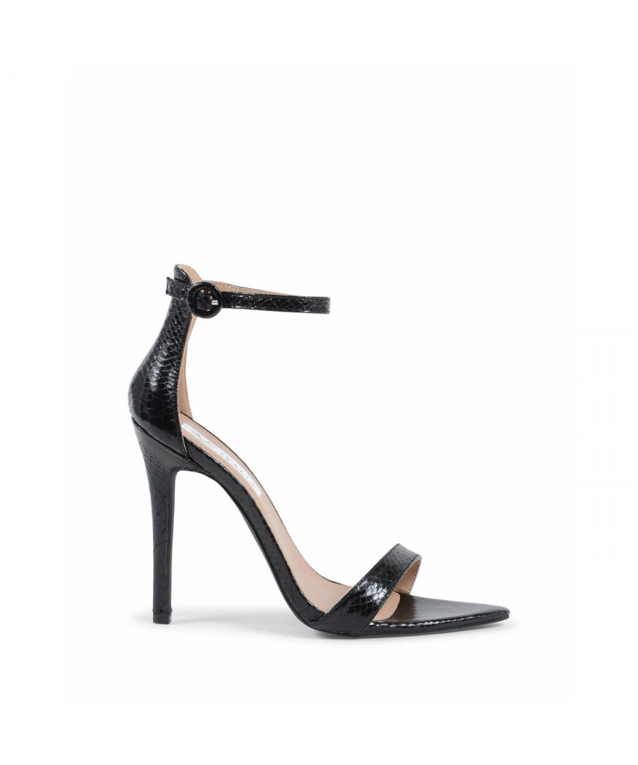 Image for 19V69 Italia Womens Ankle Strap Sandal Black V8183 BLACK