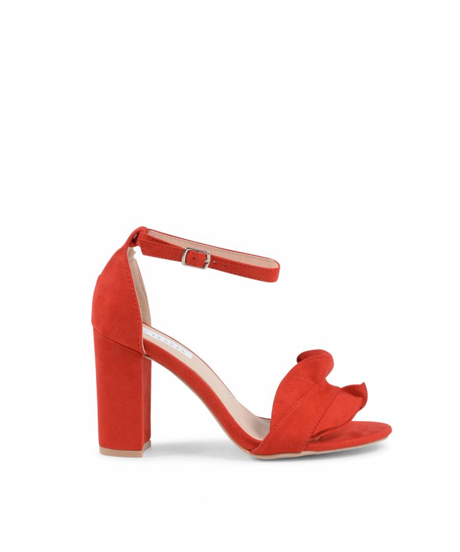 Image for 19V69 Italia Womens Ankle Strap Sandal Red V162 RED