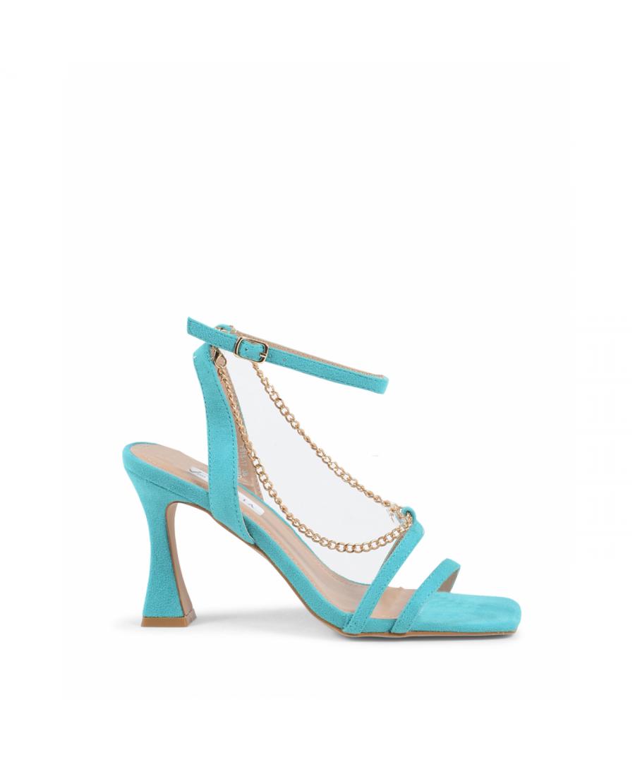Image for 19V69 Italia Womens Ankle Strap Sandal Turquoise V81817 TURQUOISE