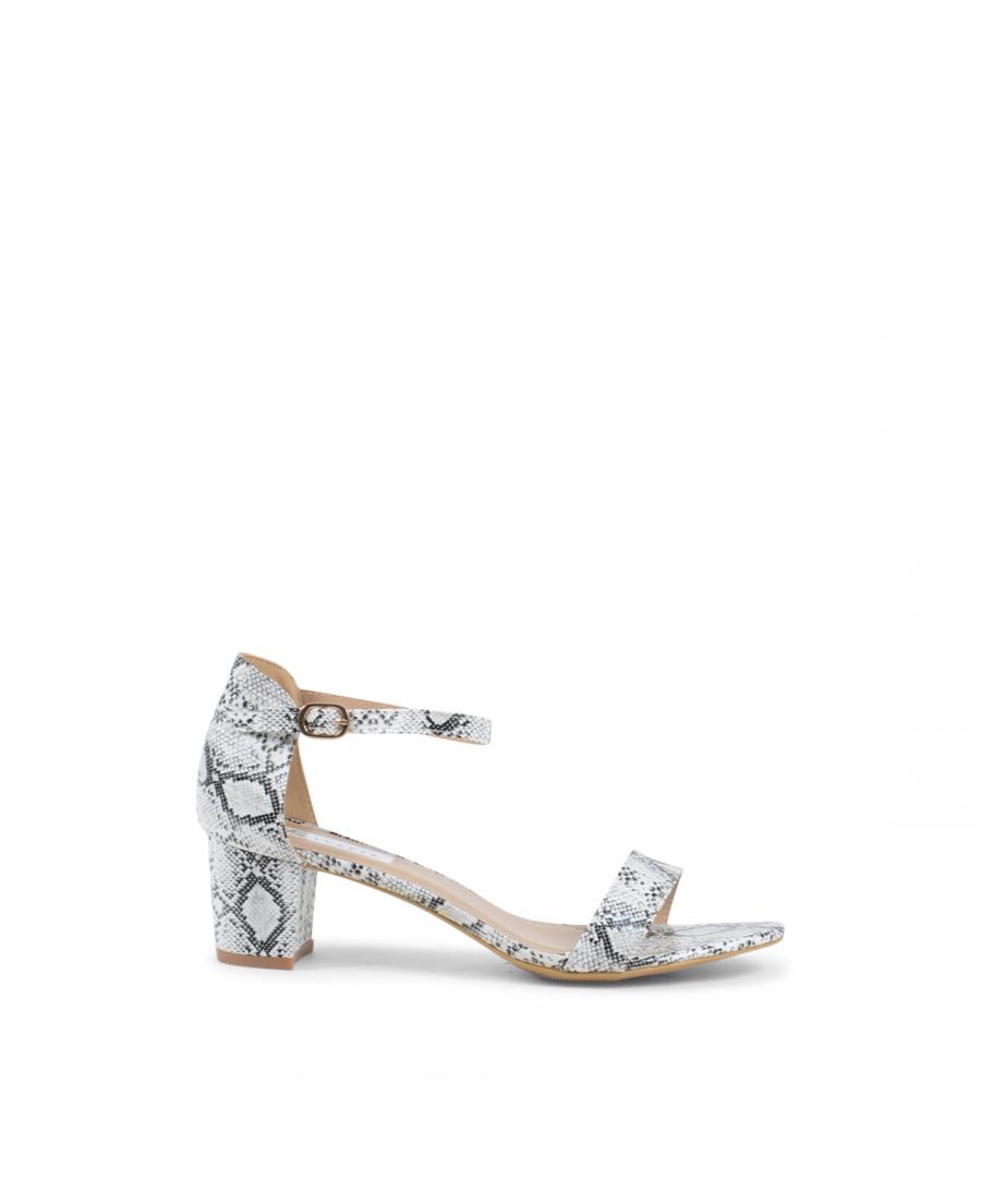 Image for 19V69 Italia Women's Ankle Strap Sandal White V173 WHITE