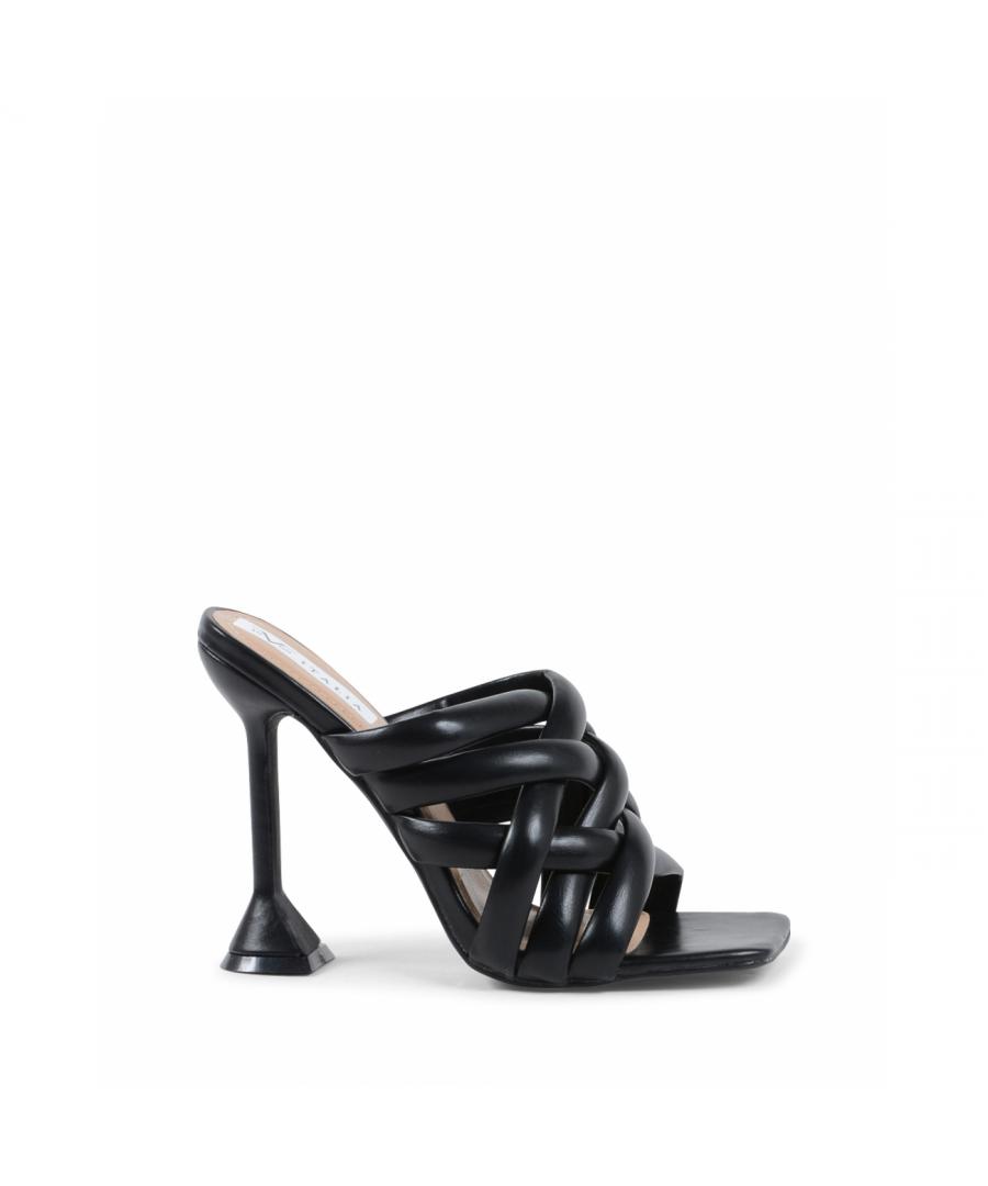 Image for 19V69 Italia Womens Heeled Sandal Black V8182 BLACK