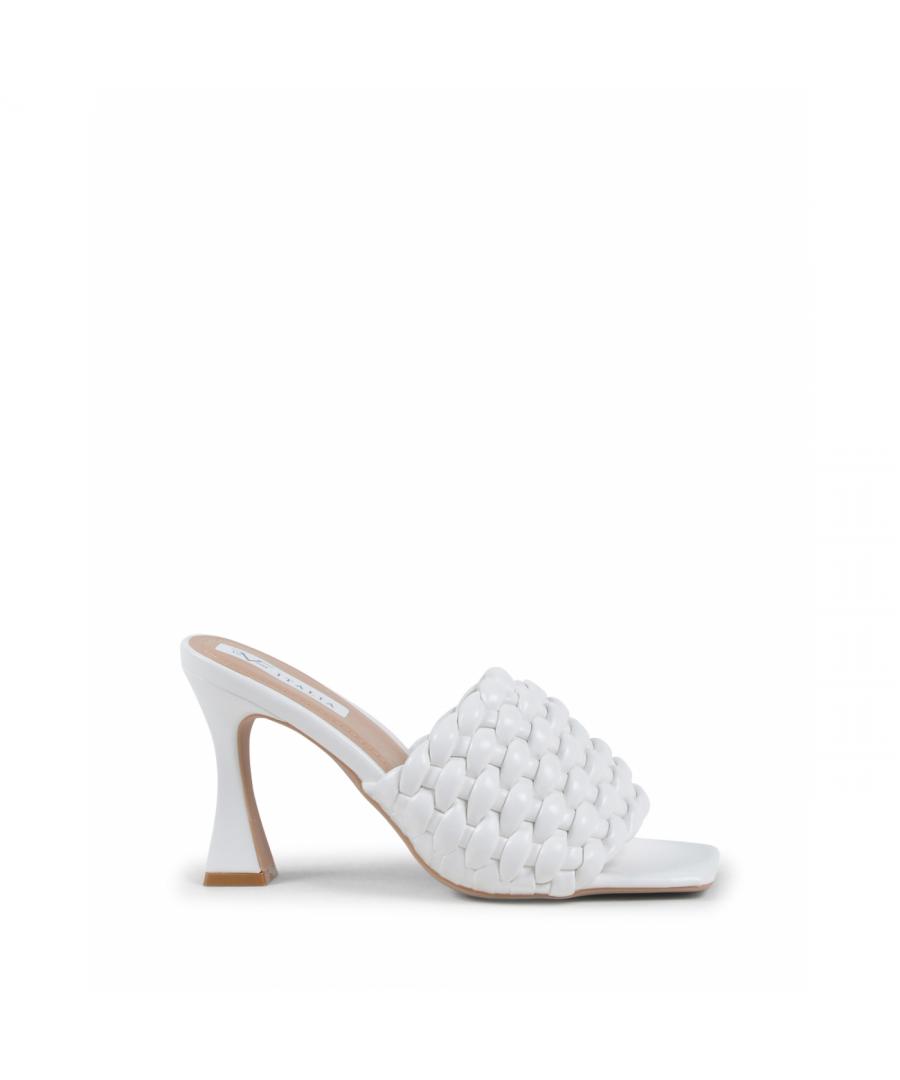 Image for 19V69 Italia Womens Mule Sandal White V8185 WHITE