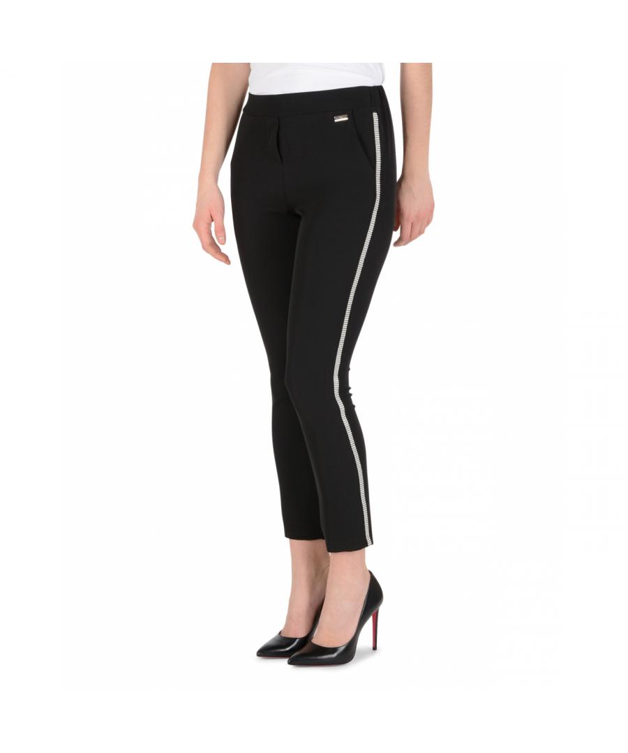 Image for 19V69 Italia Womens Pants Black PANTALONE ELENA NERO