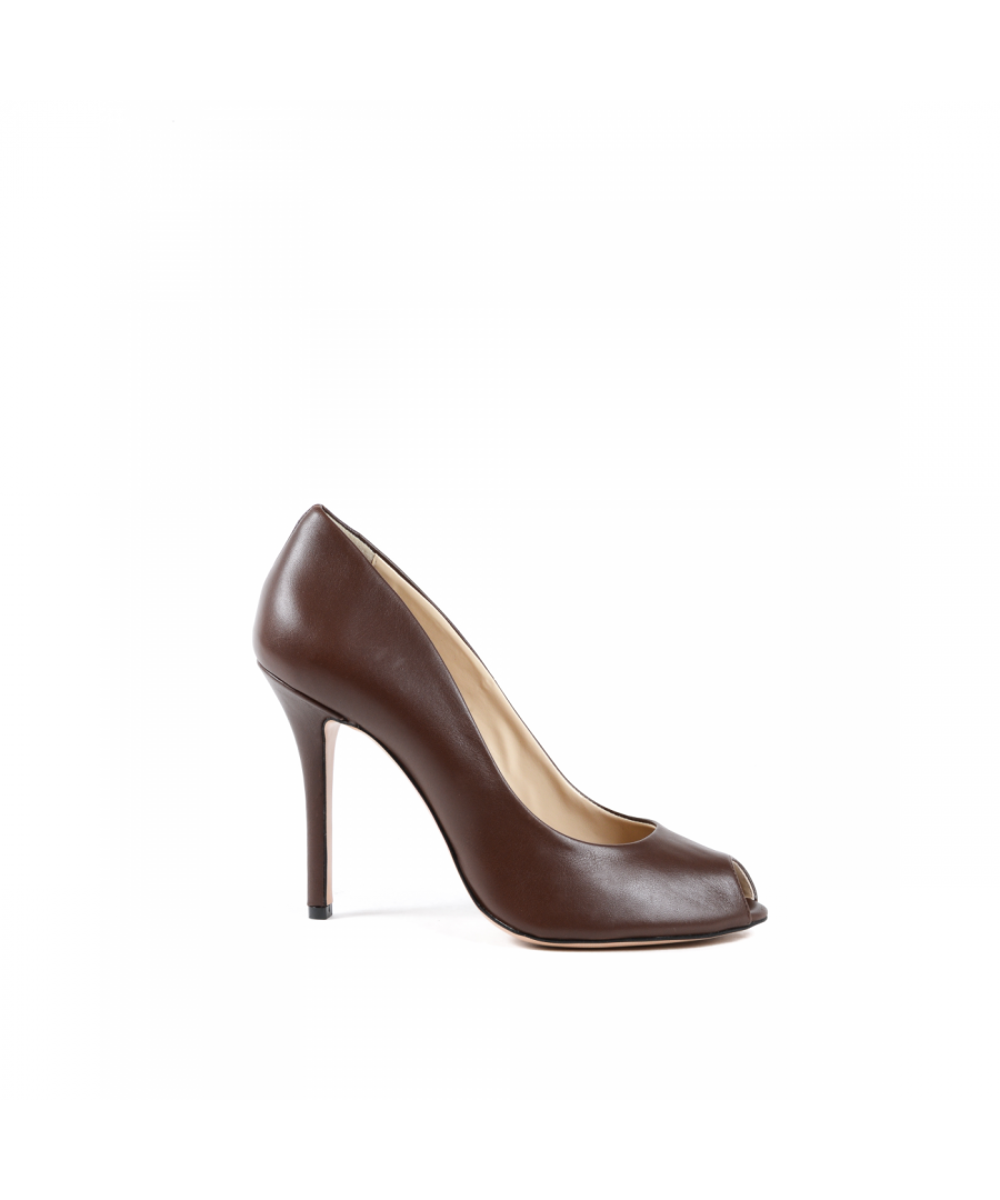 Image for 19V69 Italia Womens Pump Open Toe Brown 303 VITELLO T. MORO