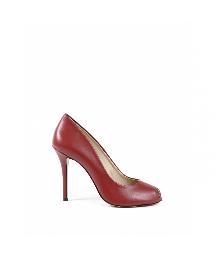 Image for 19V69 Italia Womens Pump Open Toe Red 303 VITELLO ROSSO