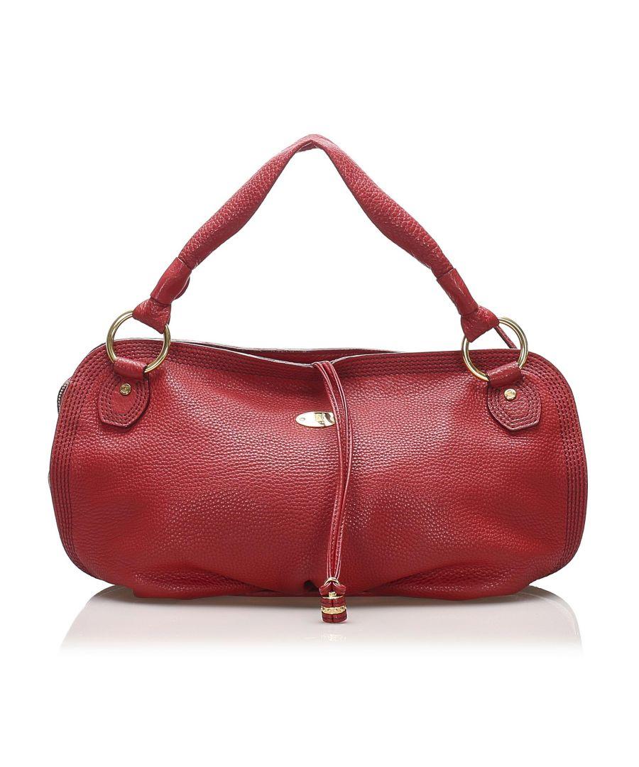 Image for Vintage Celine Leather Handbag Red