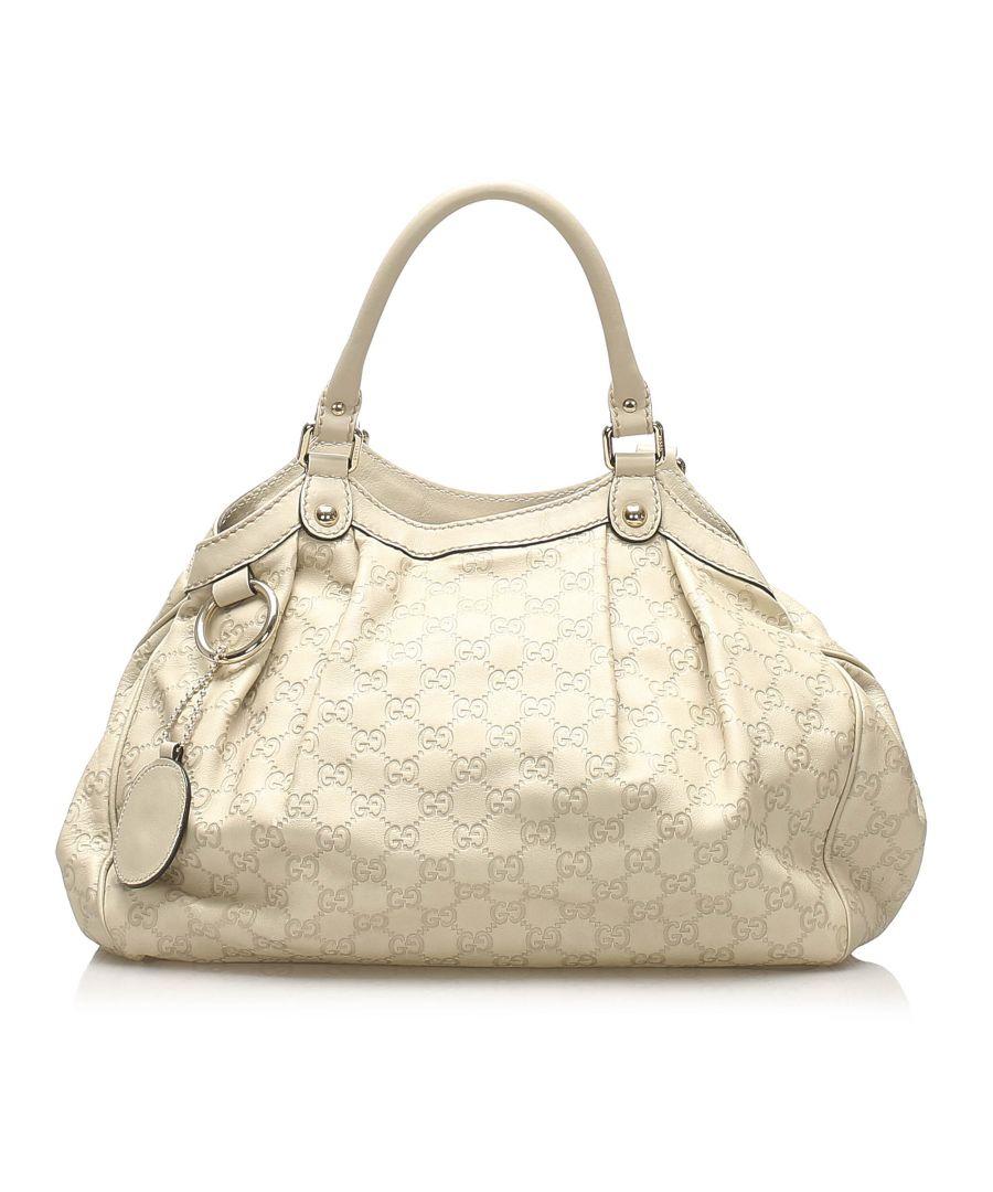 Image for Vintage Gucci Guccissima Sukey Tote Bag Brown