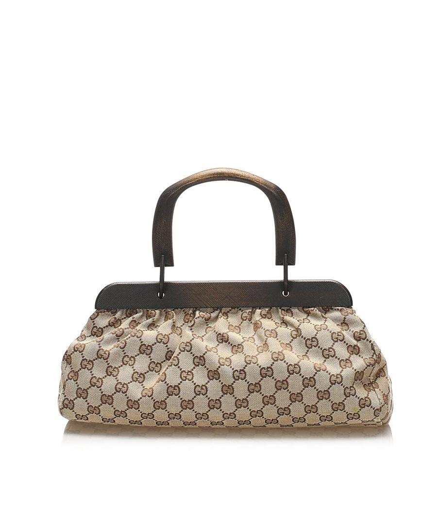Image for Vintage Gucci GG Canvas Handbag Brown