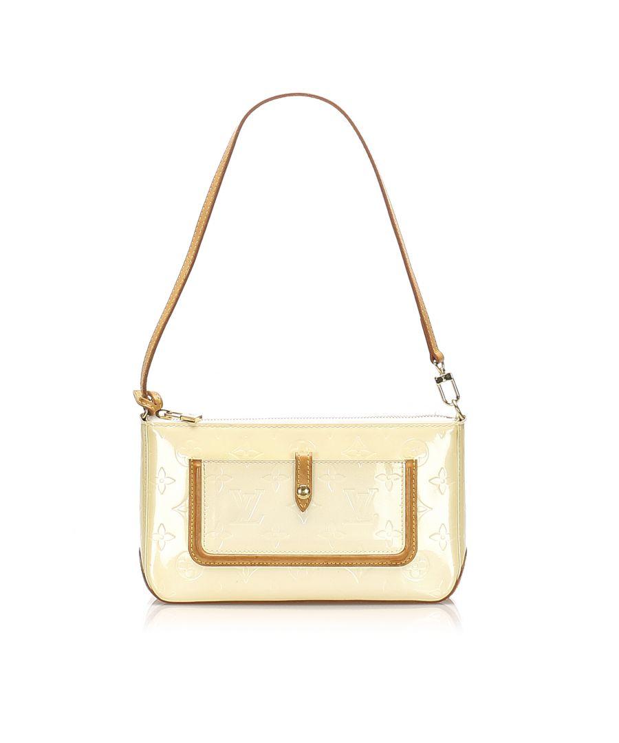 Image for Vintage Louis Vuitton Vernis Mallory White