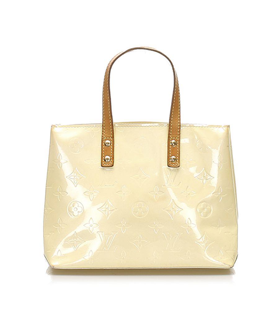 Image for Vintage Louis Vuitton Vernis Reade PM White