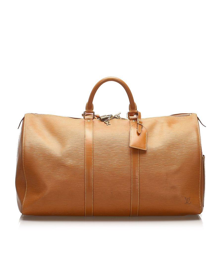 Image for Vintage Louis Vuitton Epi Keepall 50 Brown