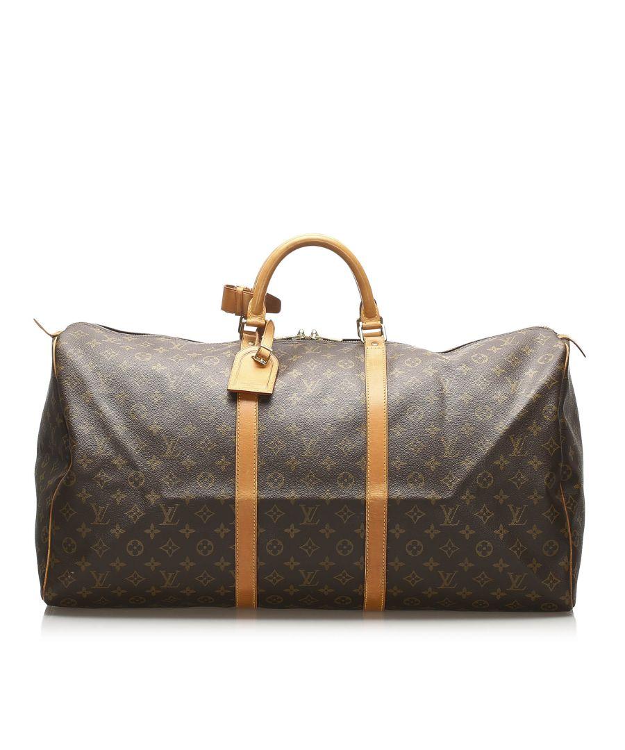 Image for Vintage Louis Vuitton Monogram Keepall 60 Brown