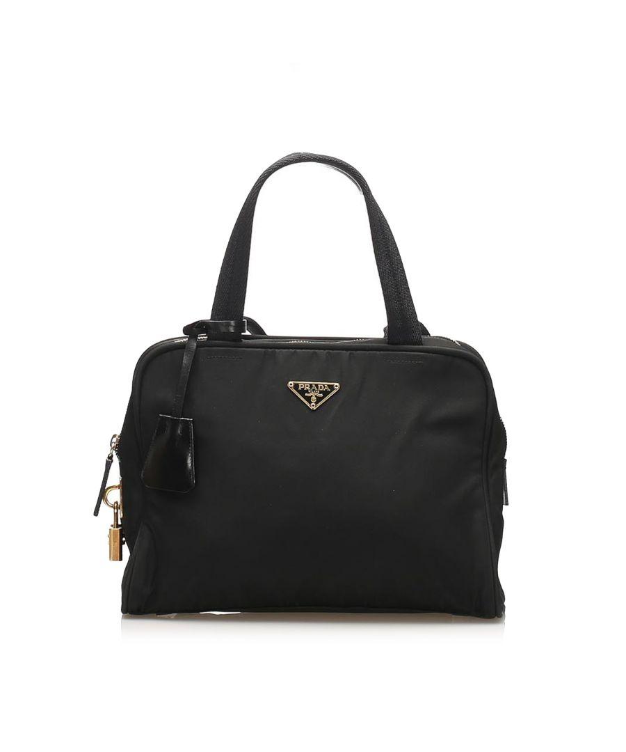 Image for Vintage Prada Tessuto Handbag Black