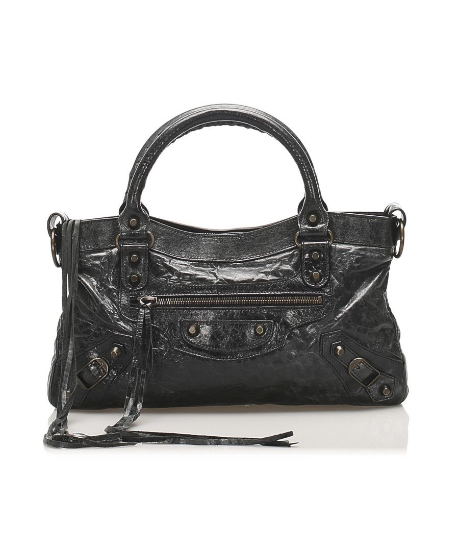 Image for Balenciaga Motocross Classic First Lambskin Leather Satchel
